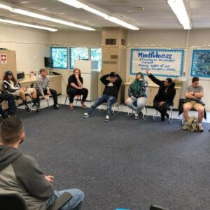 Chino Hills - CVUSD Alternative Education Center group circle discussion with teens
