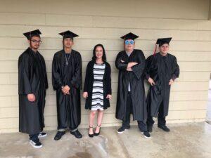 Chino Hills - CVUSD Alternative Education Center - teacher with 4 graduates