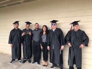 Chino Hills - CVUSD Alternative Education Center - teachers with four graduates