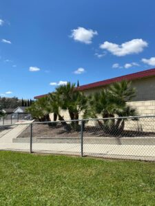 Chino Hills - CVUSD Alternative Education Center - exterior building photo with fence and plants