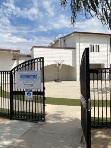 Rossier Park Elementary gate entry