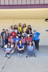 Chino Hills - CVUSD Alternative Education Center - group photo of people in sports teams shirts